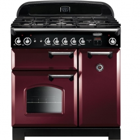 Rangemaster CLA90NGFCY/C Classic Cranberry with Chrome Trim 90cm Gas Range Cooker