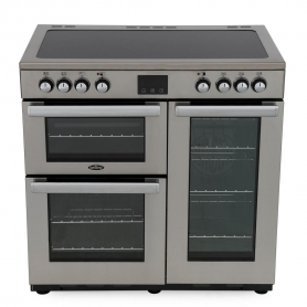 Belling Cookcentre 90E PROF Stainless Steel 90cm Electric Ceramic Range Cooker