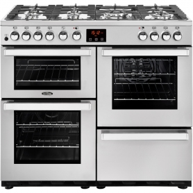 Belling Cookcentre 100DFT PROF Stainless Steel 100cm Dual Fuel Range Cooker