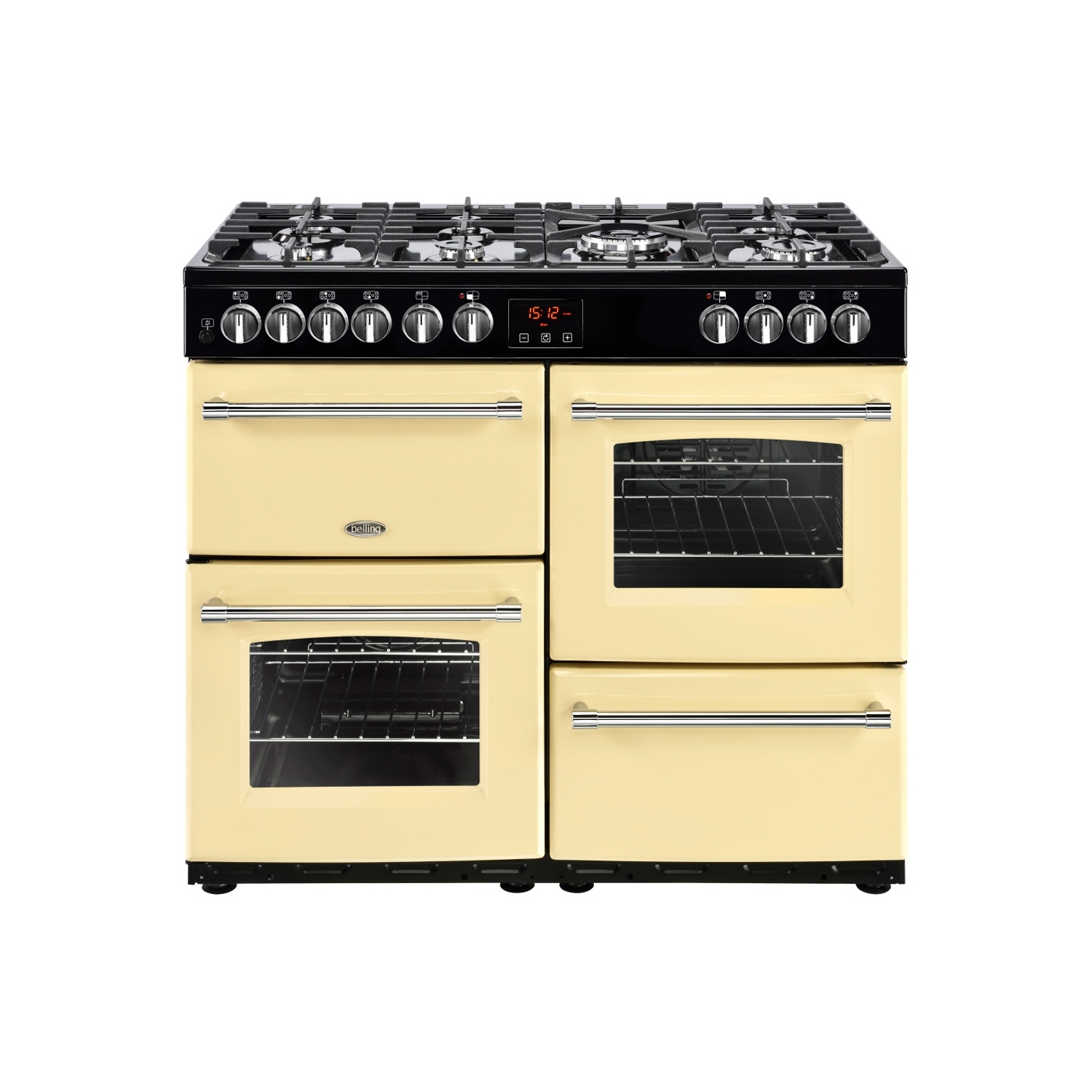 Belling Farmhouse 100DF Cream 100cm Dual Fuel Range Cooker - 0