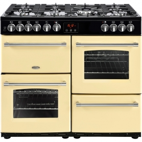 Belling Farmhouse 100DF Cream 100cm Dual Fuel Range Cooker