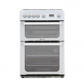Hotpoint Ultima HUG61P Gas Cooker with Double Oven