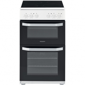 Hotpoint HD5V92KCW/UK Ceramic Electric Cooker Separate Grill