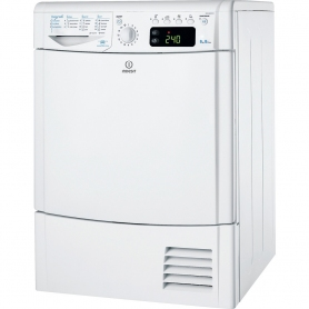 Indesit EcoTime IDCE 8450 B H Condenser Tumble Dryer in White