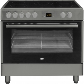 Beko BHSC90 90cm Stainless Steel Single Oven All Electric Range Cooker