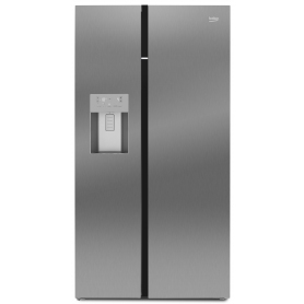 Beko ASGN542X American Fridge Freezer - Stainless Steel - Ice /Water -None Plumbed