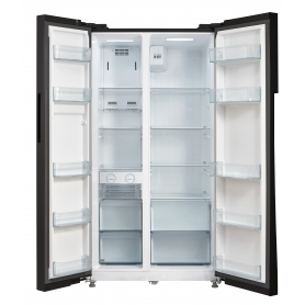 Montpellier M510BK Side-By-Side Fridge Freezer