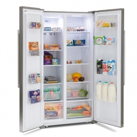 Montpellier M605X Side-By-Side Fridge Freezer - 2