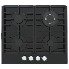 Montpellier MGH61BG Gas on Glass Black Hob