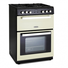 Montpellier RMC61GOC 60cm Gas Range Cooker in Cream, Double Oven A Rated Gas Range Cooker in Cream,