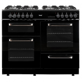 Teknix TKRC100B 100cm Dual Fuel Range Cooker in Black